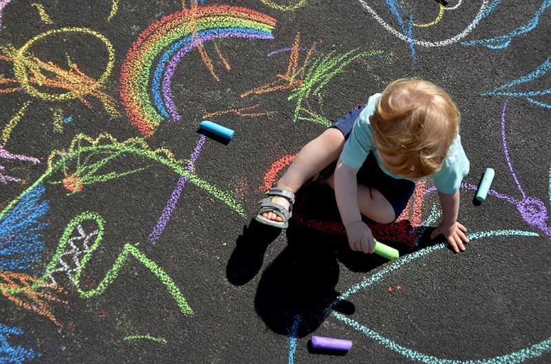 Kids Chalk Art