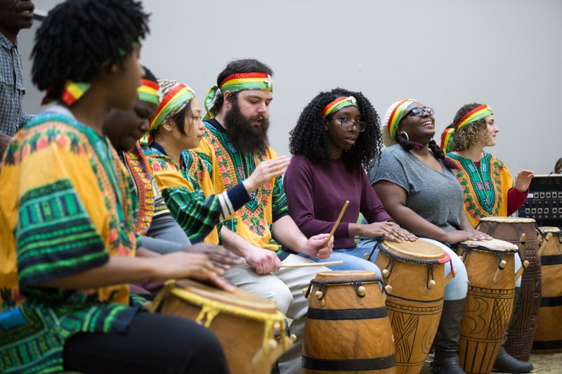 Performance of West African Percussion Music