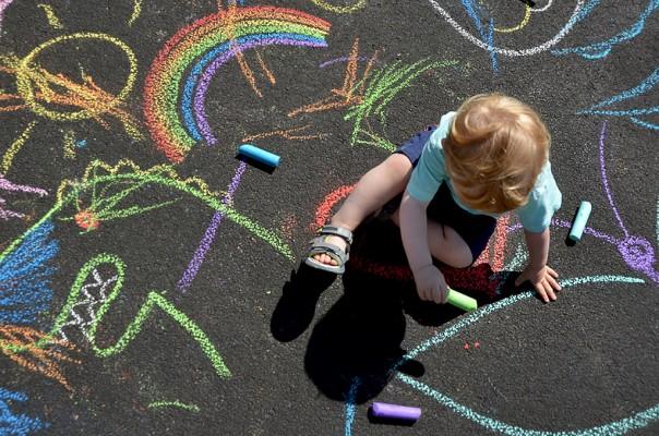 Kids Chalk Art