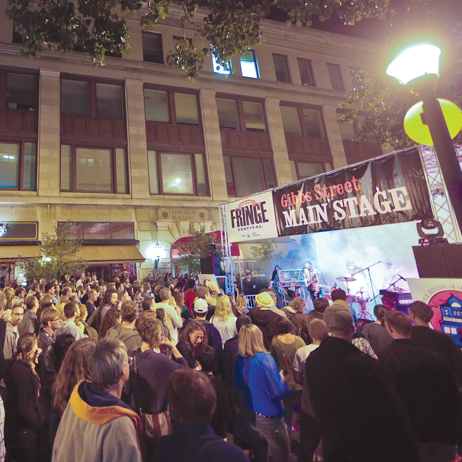 Chestnut Street (between East & Main): Chestnut Street Stage