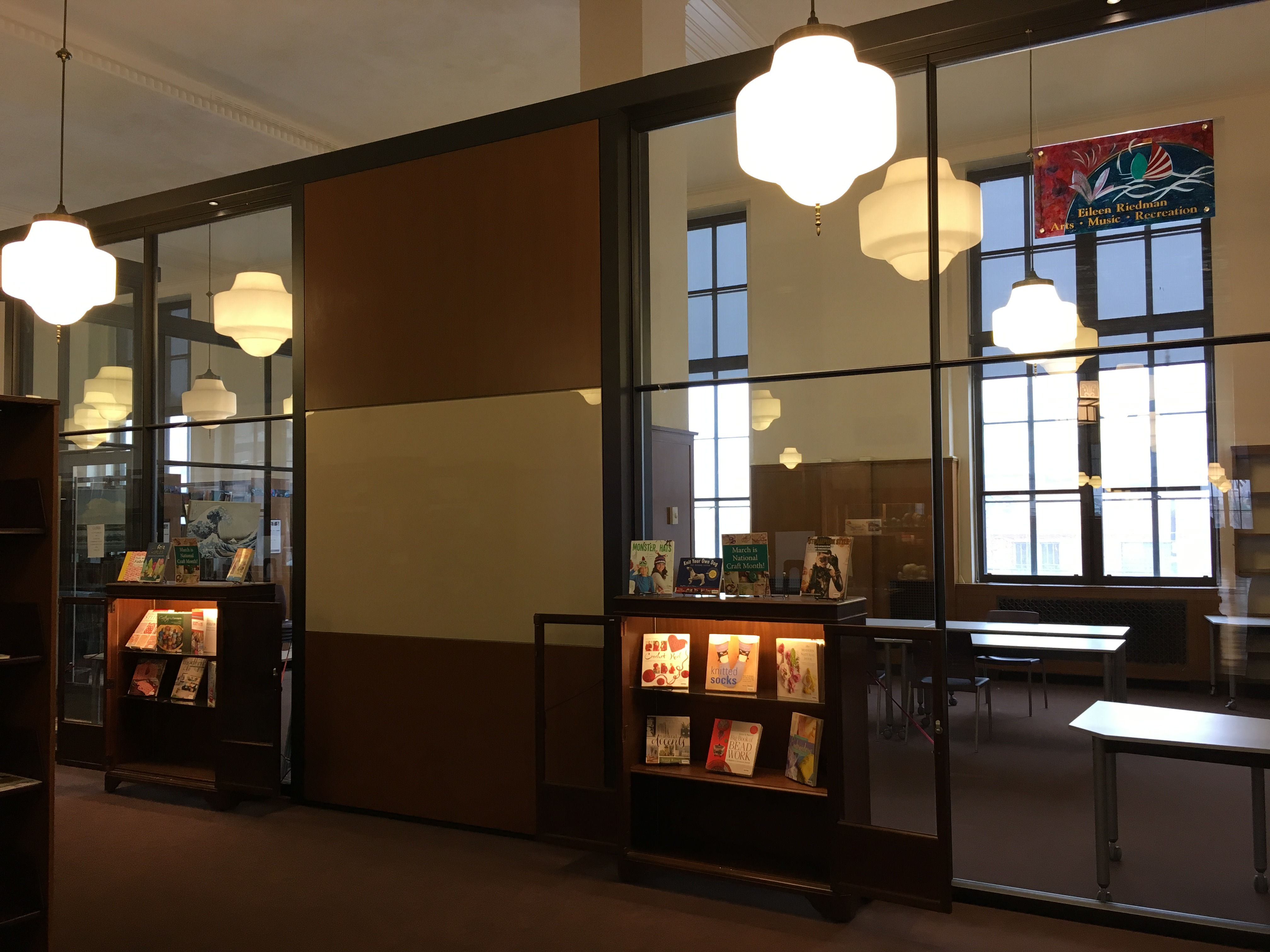 Central Library: Rundel Arts Room (glass cube!)